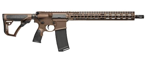 Daniel Defense 16191067 DDM4 V11 CO Compliant Semi-Automatic 300 AAC Blackout 16 No Mag Mil-Spec Brown 6-Position Adjustable wSoftTouch Overmodling Stock Mil-Spec Brown Cerakote Aluminum Rece