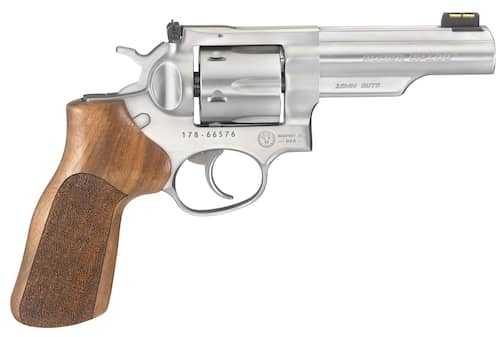 Ruger 1775 GP100 Match Champion Revolver Hardwood Hogue Grip Stainless Steel right.jpg