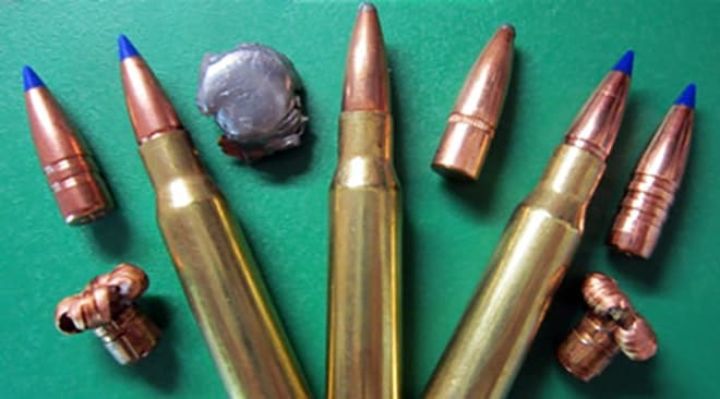 copper and lead bullets