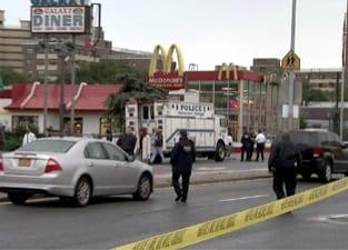 mcdonalds shooting crime scene photo