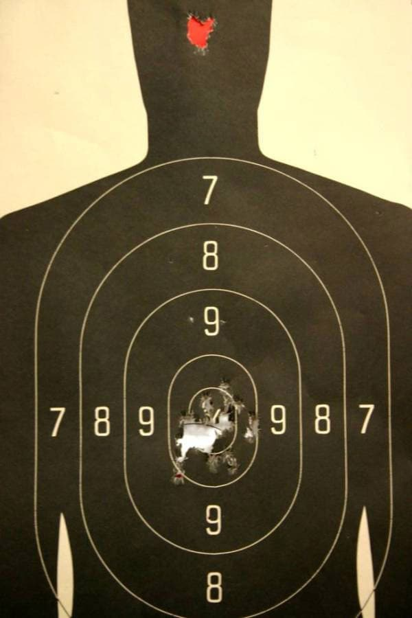 Target shot at center mass.