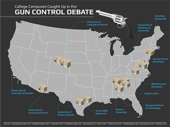 gun control debate infographic