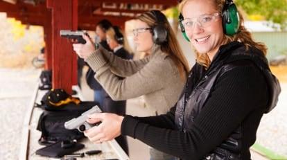 women shooting