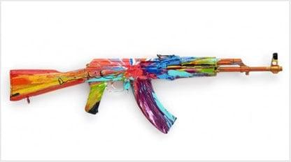 Bizarre AK-47 Art Pieces Promote Global Ceasefire - Guns com