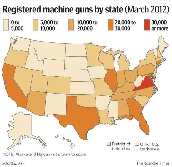 registered machine guns by state chart