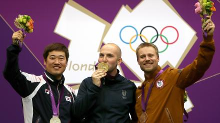 Men's 50 meter 3 position medalists