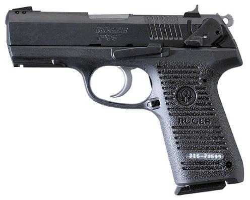 ruger p95 handgun on white background