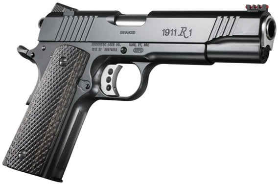 remington r1 1911 handgun on white background