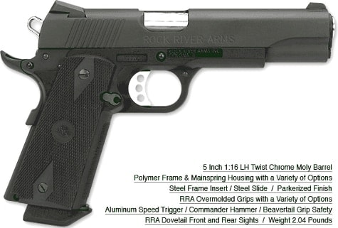 A Rock River Arms 1911 Poly and spec sheet