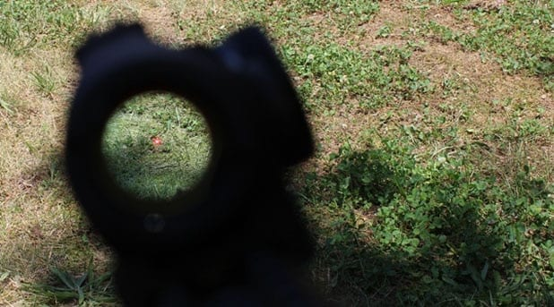 The Aimpoint Micro T1 Red Dot