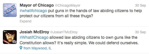 Tweets responding to #whatifchicago.