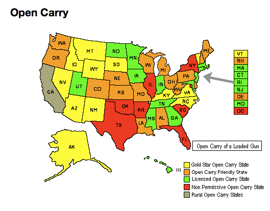 state open carry law chart