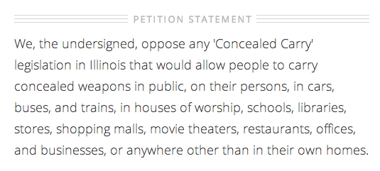 concealed carry petition statement