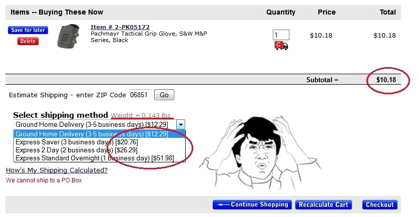 cheaper than dirt high shipping