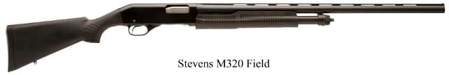 M320 shotgun with extended ribbed barrel and Monte Carlo stock