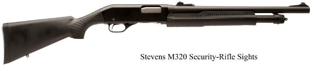 M320 shotgun with Monte Carlo stock and rifle-style sights