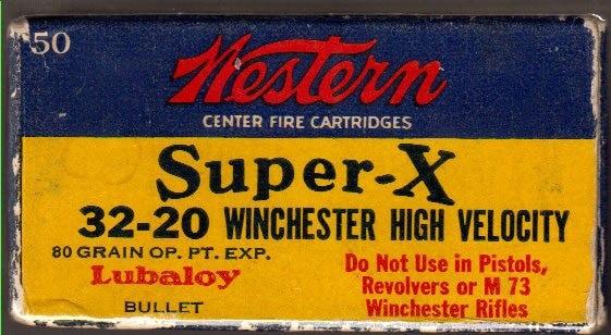 vintage antique super-x 32-20 winchester bullets box