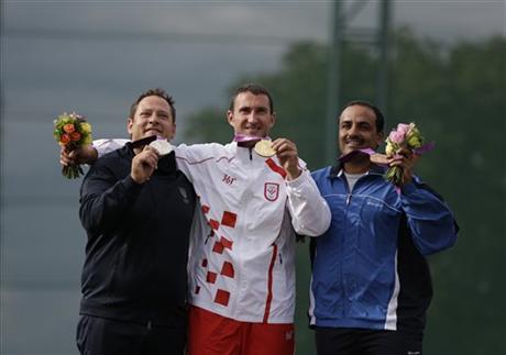 Men's Trap Medalists