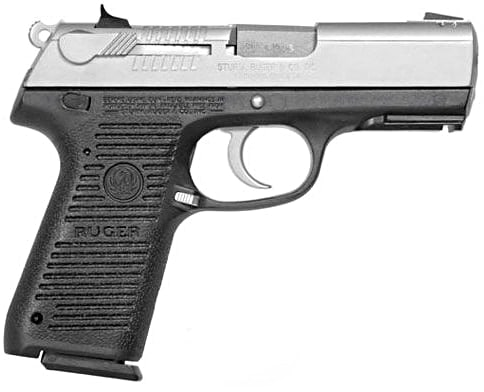 silver ruger p95 on white background