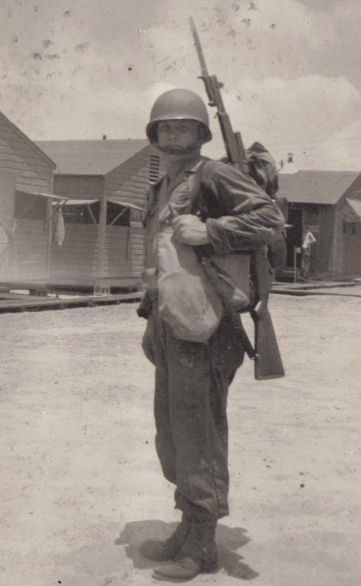 soldier with M1 Garand