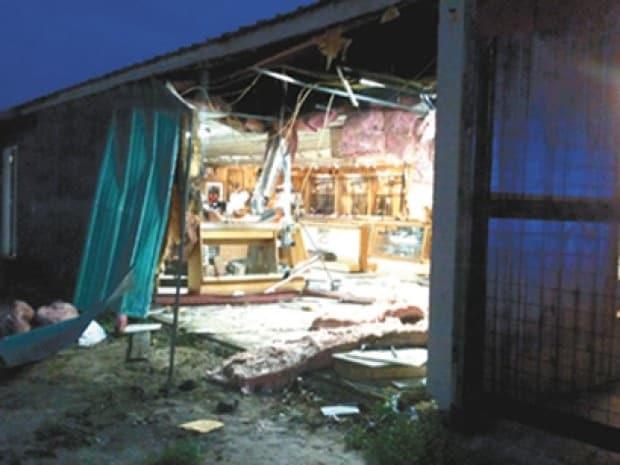 Damaged Gun Store