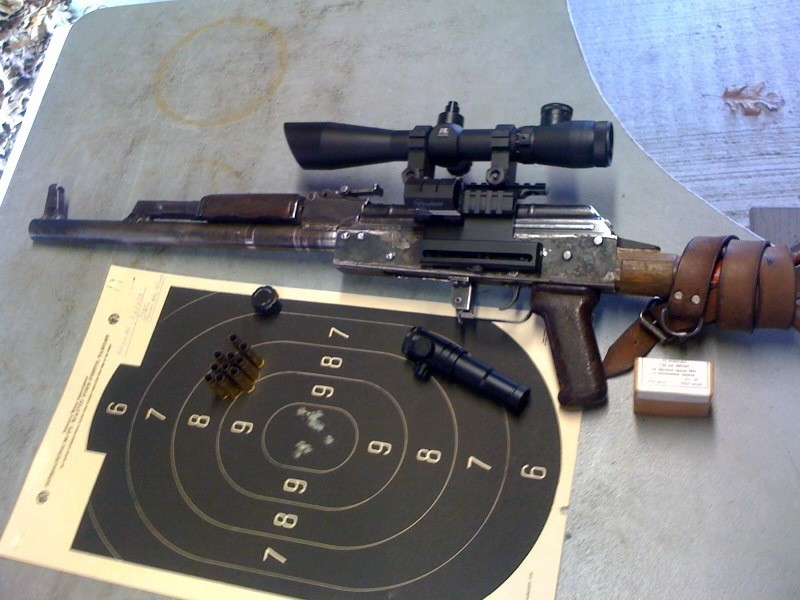 At the range with a shitty scope.