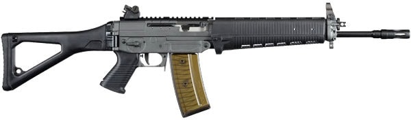 SIG 551-A1 Rifle with clear magazine