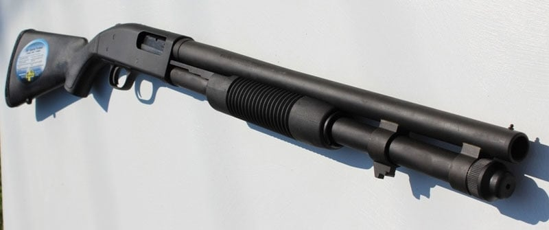 Mossberg 590A1 mounted on the wall
