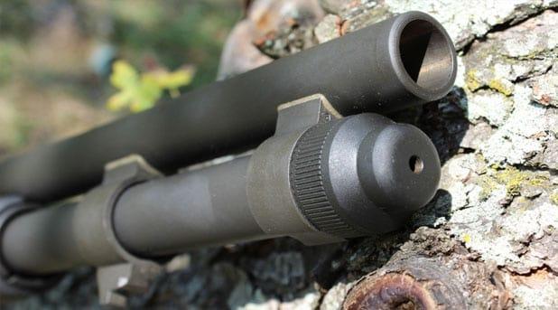The Mossberg 590A1 has a bayonet lug.