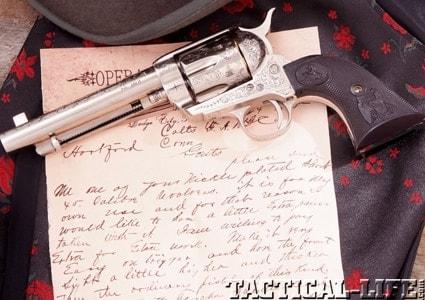 Dodge Dealers Denver >> Engraved replica of Bat Masterson's Colt by Pietta - Guns.com