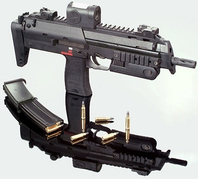 The HK MP7 PDW.