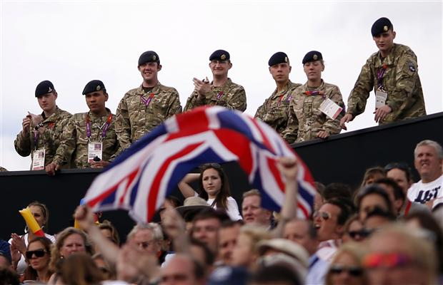 British soldiers at the 2012 Olympic Games