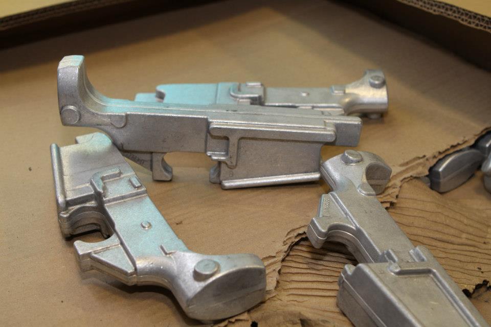 Blank AR lower castings