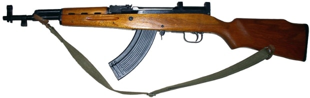 wooden sks with sling on white background