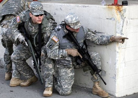 U.S. soldiers equipped with FAB Defense accessories