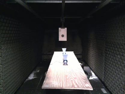 Mobile firing range for guns.