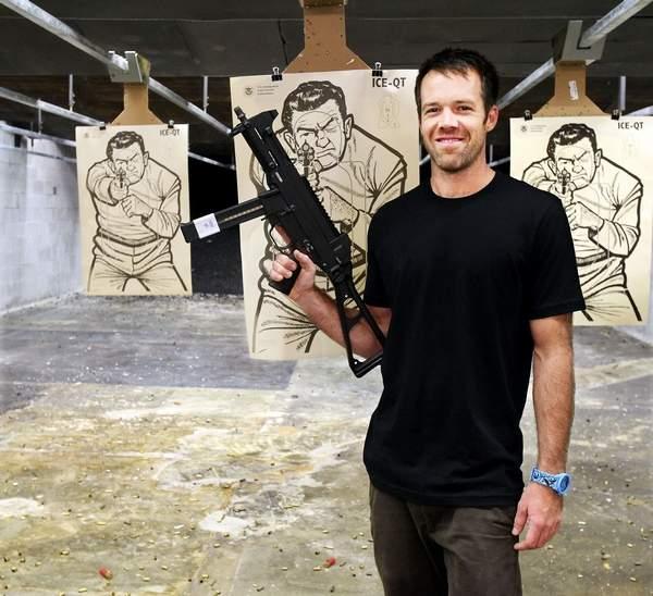 Alex Perkins and his UMP40 at quickshot shooting range
