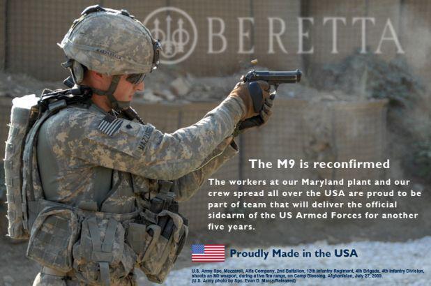 Beretta celebrates new five-year Army contract