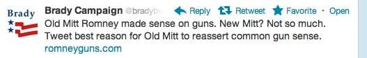 brady campaign tweet about mitt romney