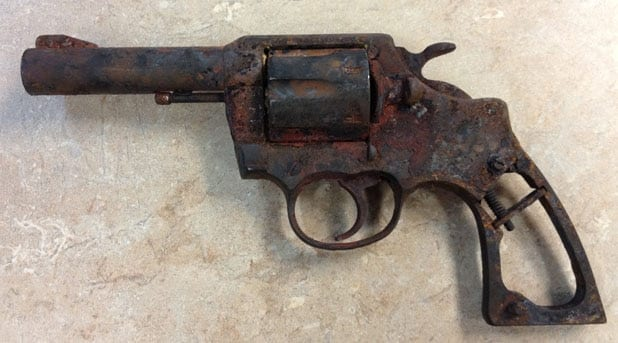 A burned gun from the Waldo Canyon Fire