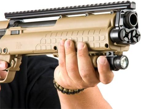 kel tec rifle with mounted flashlight