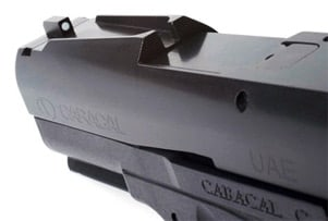 Caracal 9mm pistol quick sights