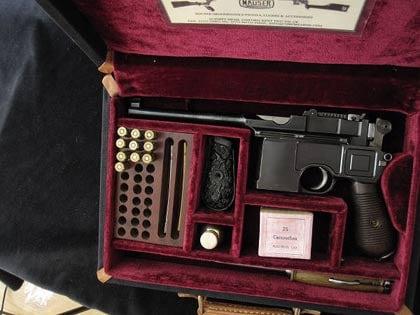 C96 Mauser Handgun Pistol Case Collector