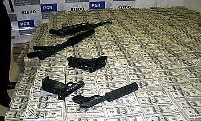 guns on stop of money