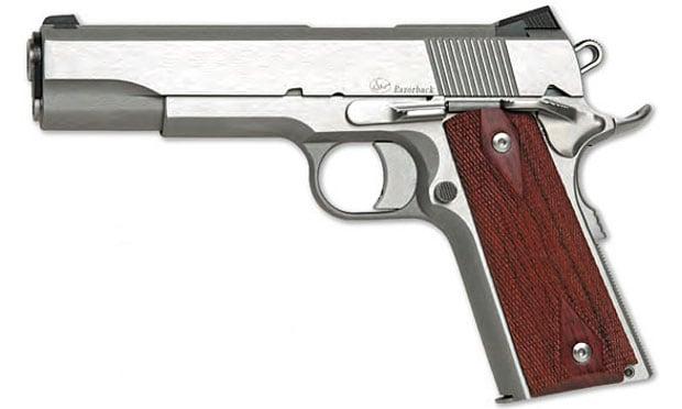 dan wesson silver 1911 handgun