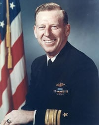 "Eugene ""Lucky"" Fluckey was a submarine commander in World War II."