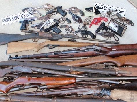 Garbage guns