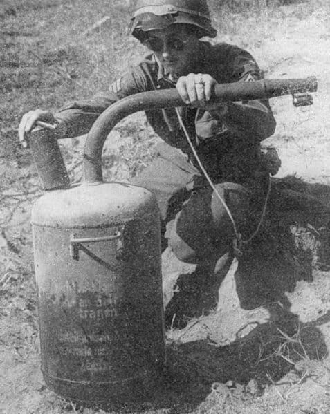 flame thrower land mine