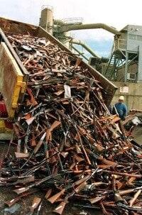 dump truck unloading rifle load
