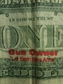 Gun Owner Dollar Bill